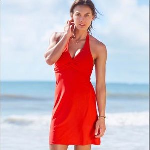 Athleta WHITE Tara Halter Swim Dress NWOT